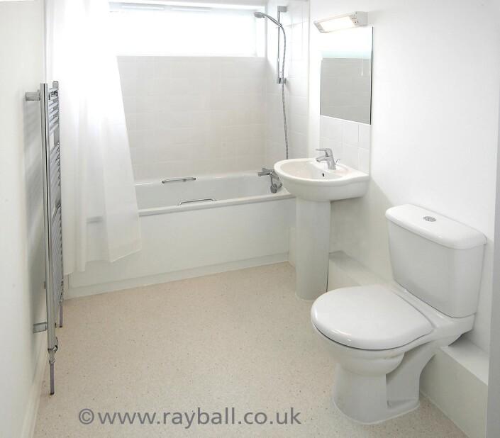 Bathroom intallation Sutton SW London - interior photography.
